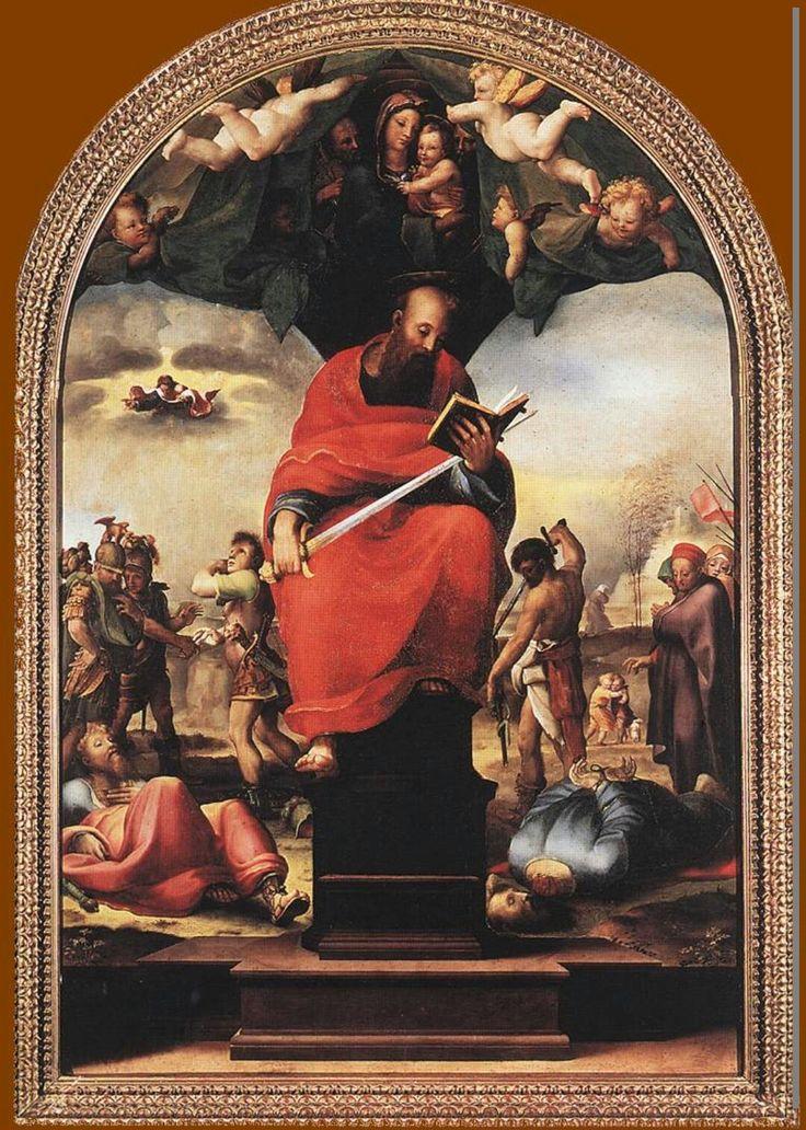 San Paolo in trono Museo dell'opera del Duomo di Siena.  1515