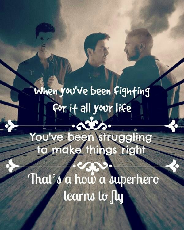 The Script - Superheroes I love The Script! Their songs are so inspiring!