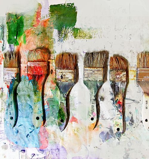"""This submission to our Tumblr makes us feel like running (not walking) to the studio to get messy with paint! """"The Painter Paints"""" by Andrew Shachat"""