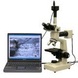 AmScope 2000X Dual Light Metallurgical Microscope + 10MP Camera