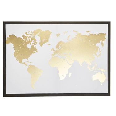 The 25 best gold world map ideas on pinterest gold map world gold world map canvas gumiabroncs Gallery