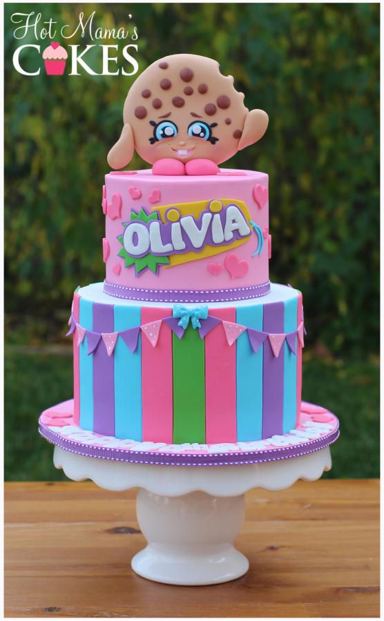 Kooky+Cookie+Shopkins+Cake+-+Cake+by+Hot+Mama's+Cakes