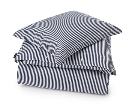 Blue/White Sateen Stripe Duvet from Lexington Home Fall 2016 Collection. www.lexingtoncompany.com