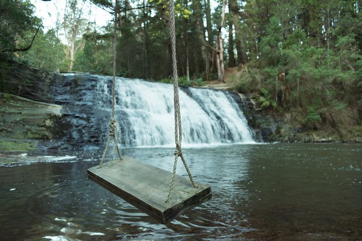 Morwell River Falls and swing