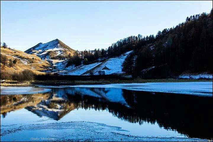 Lac du refuge Napoléon.  Vars