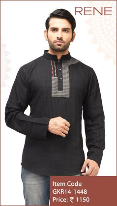 #Exclusive #EthnicWear #Design #Traditional #Trendy #Kurta #Men #Black #Ootd #Outfit #Fashion #Style #ReneIndia #Brand available on #Flipkart #Snapdeal #paytm