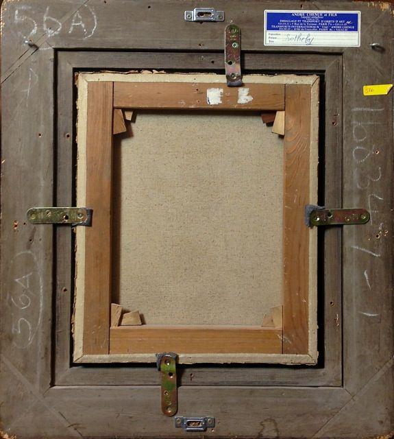 Obra pictòrica George Rouault revers acabat, procedència Museu de Montserrat