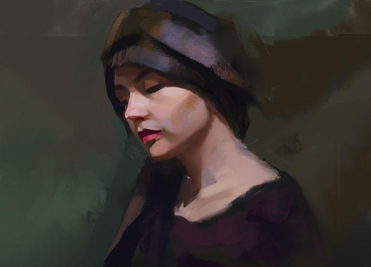 Etude portrait_digital painting