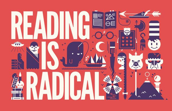 Reading is ... Art Print by KOMBOH | Society6