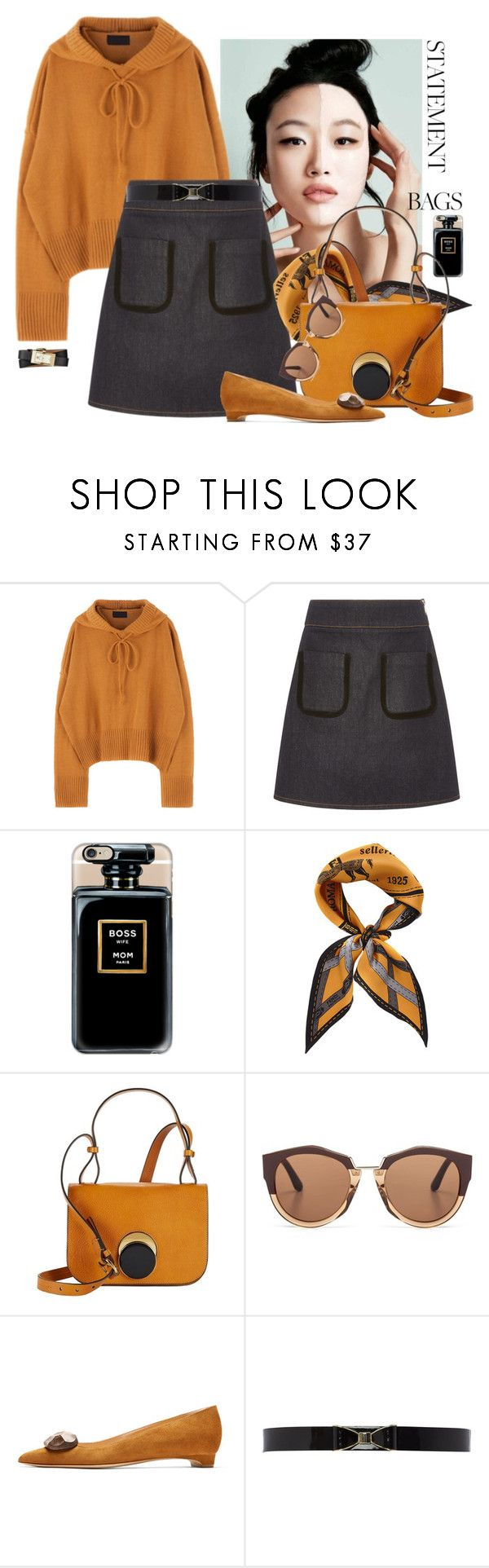 """Statement Bags"" by ysmn-pan ❤ liked on Polyvore featuring Sonia by Sonia Rykiel, Casetify, Fendi, Marni, Rupert Sanderson, Therapy, Tory Burch, contest and statementbags"