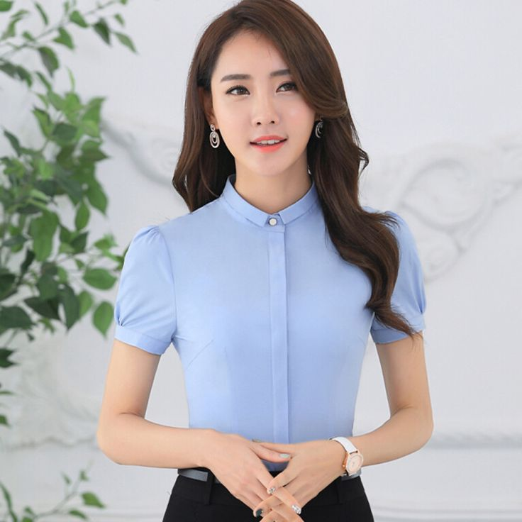 Cheap Venta caliente alta calidad camisa de gasa manga corta mujeres OL elegante oficina delgado formal dulce blusa mujer plus tamaño ropa de trabajo superior, Compro Calidad Blusas y Camisas directamente de los surtidores de China:  2016 new fashion summer women's Elegant Bow chiffon blouse OL slim short sleeve shirt female office plus size work wear
