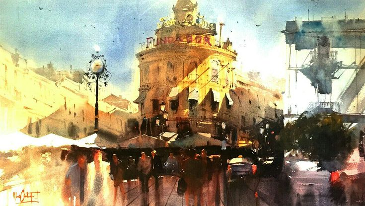 Alvaro Castagnet, TITLE: FULL LIGHT, Watercolour  Álvaro Castagnet  #alvarocastagnet #acuarela #watercolor #galeriadeartetrinotortosa #ventadearte