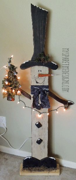 17 best ideas about snowman decorations on pinterest wooden snowman crafts pallet snowman and - How to make a snowman out of wood planks ...