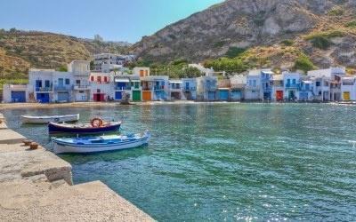 Klima Fischerdorf, Insel Milos, Kykladen, Griechenland Stockfoto - 13661642
