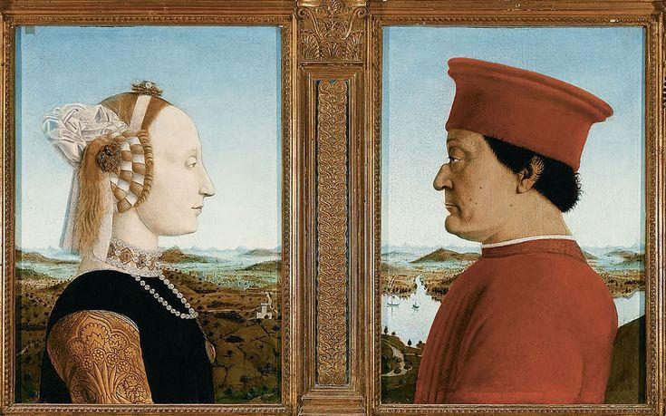 PIERO DELLA FRANCESCA (1420-92) Battista Sforza i Feredico da Montefeltro, 1465-70, Uffizi