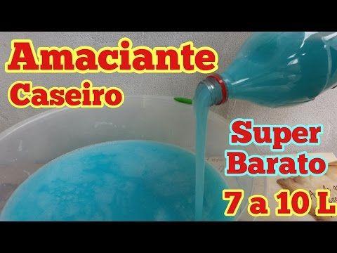 AMACIANTE CASEIRO FÁCIL E BARATO - YouTube