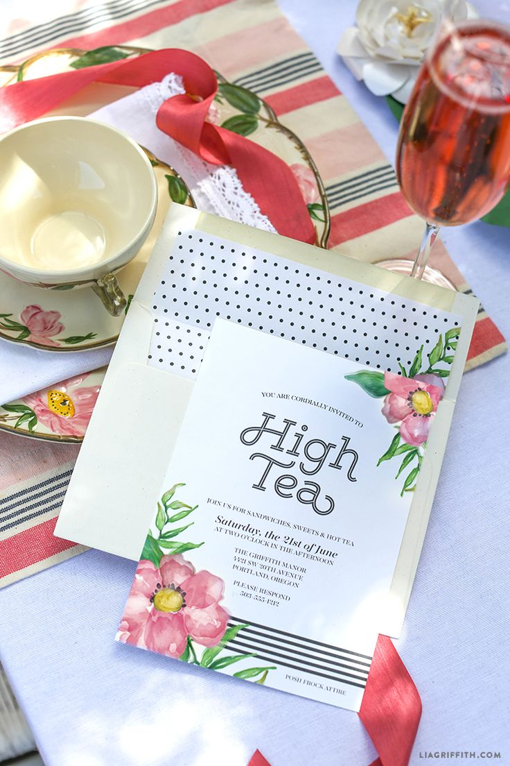 Lia Griffith | Printable High Tea Party Invitations