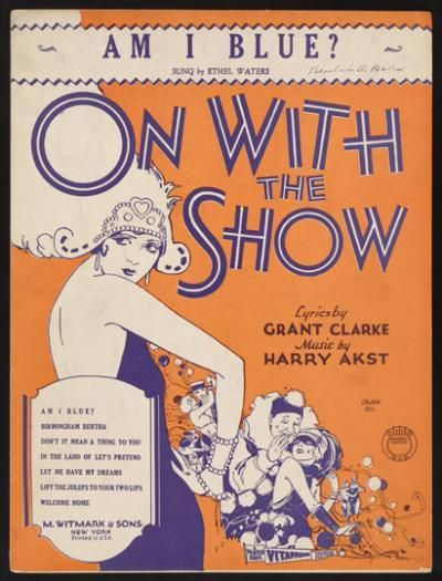 "Sheet Music from ""On with the Show!"" (1929)"