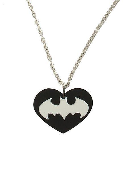 DC Comics Batman Heart Necklace | Hot Topic