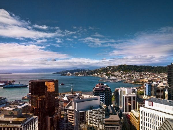 Wellington view from James Cook Hotel Grand Chancellor. #Wellington #NewZealand #Travel