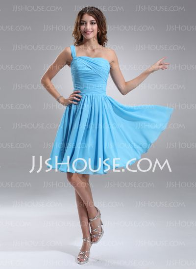 - $105.99 - A-Line/Princess One-Shoulder Knee-Length Chiffon Charmeuse Sex and the City Style Dresses With Ruffle (031003666) http://jjshouse.com/A-line-Princess-One-shoulder-Knee-length-Chiffon-Charmeuse-Sex-And-The-City-Style-Dresses-With-Ruffle-031003666-g3666