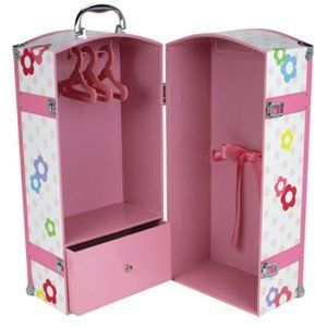 Need to MAKE this for girls' 18 in dolls -  closet & drawer on left, bed on right.