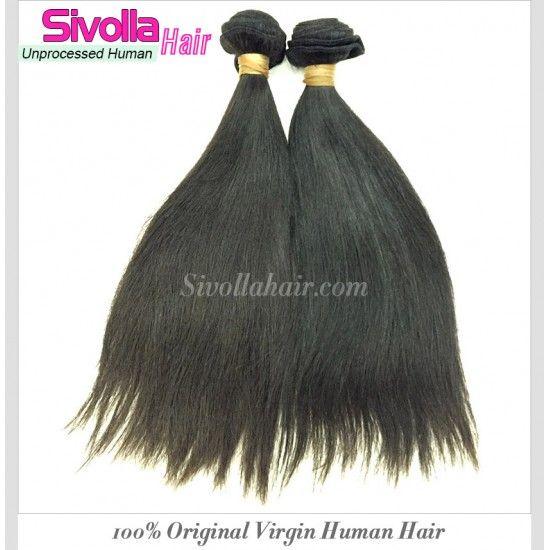Premium Cambodian Straight Natural Hair 3 Bundles Deal Medium Luster Silky Straight Original Raw 100% Human Hair