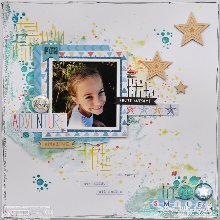Hi Scrapping Clearly Lovelies !!!  I t's Karyn here and t oday I have a scrapbook page to share with you made using the Cocoa Vanilla ...