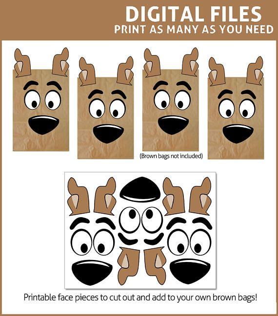 Scooby Doo Favor Bags Printables  DIGITAL  Party Bag
