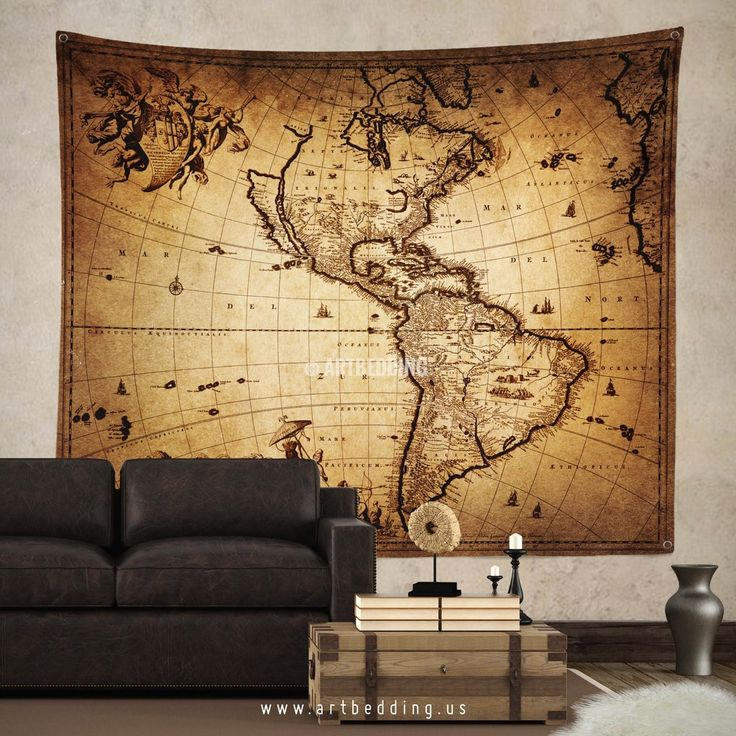 Best 100+ Vintage antique world map decor, wall art prints and ...