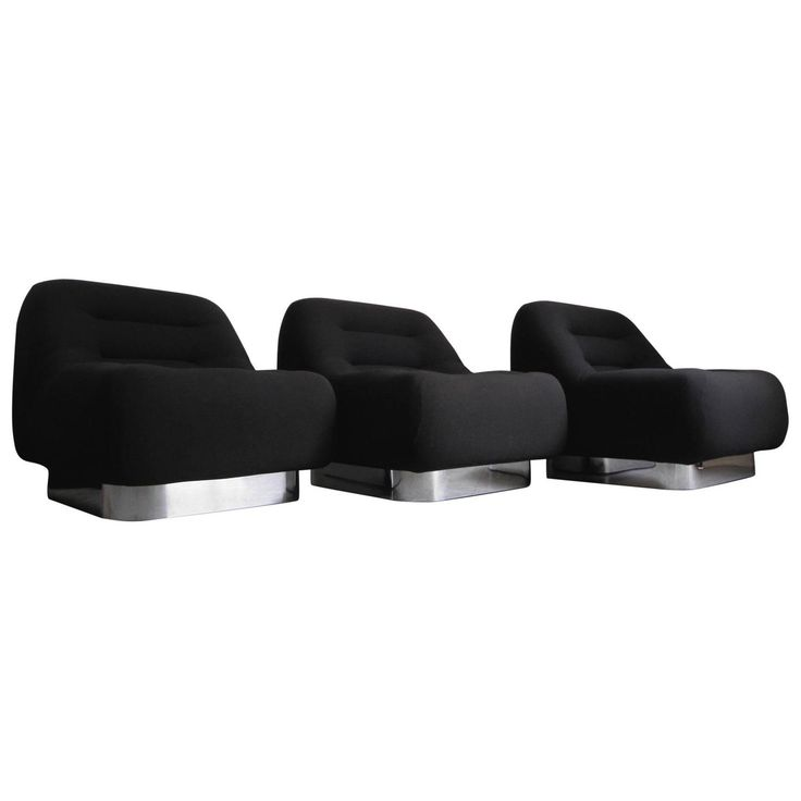 Three M.F. Harty Mod Mid-Century Modern Chrome Modular Lounge Chairs   See more antique and modern Lounge Chairs at https://www.1stdibs.com/furniture/seating/lounge-chairs