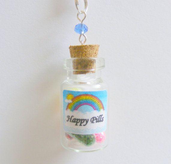 Best 10 happy pills ideas on pinterest glitter glitter for Pill bottle jewelry