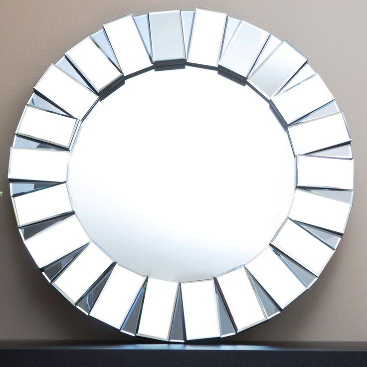 Latitude Run Portman Round Oversized Wall Mirror