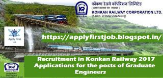 Apply For New Job in Konkan Railway Corporation Limited for the posts of Graduate Engineers ~ Apply First Job