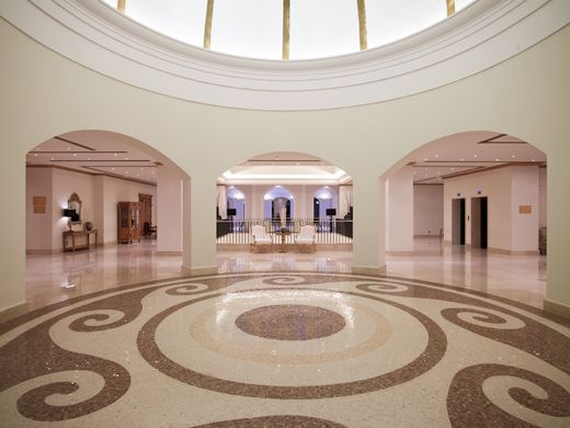 Speical application of floor made by marble and mosaics, Stonetech project, Laguna exclusive resort & spa 5* , www.stonetechgroup.gr