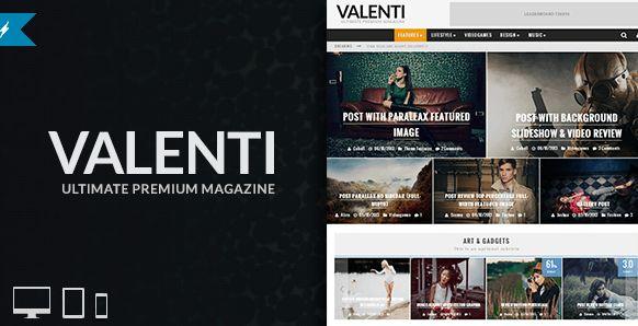 Themeforest – WordPress: Valenti – WordPress HD Review Magazine News Theme on Themeforest Free Download http://themeforestfreedownload.com