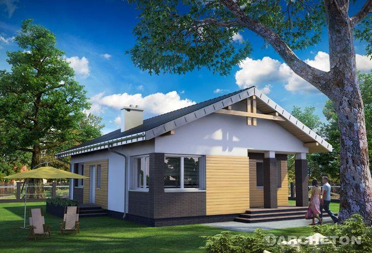 Projekt domu Chatka - mały domek parterowy z dużą kotłownią