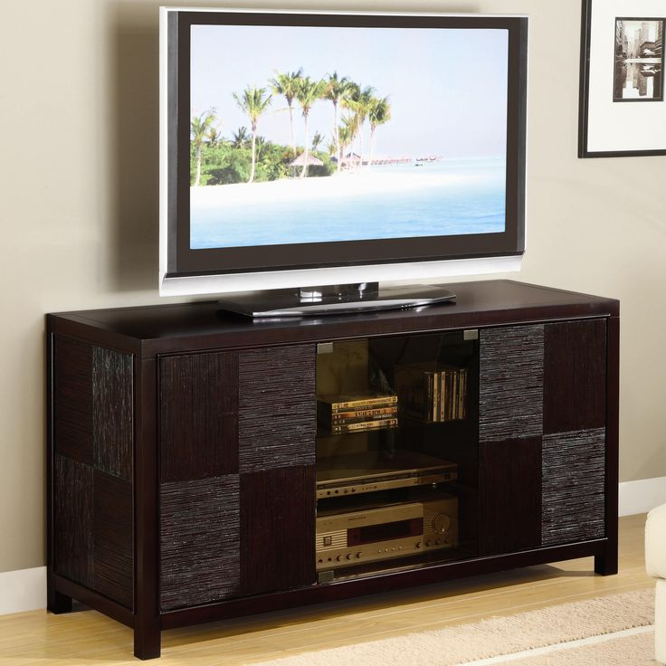 Coaster Cappuccino Contemporary TV Stand Console With Doors   700643