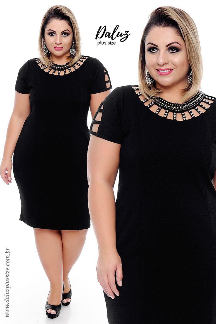 Vestido Plus Size Blanda - Coleção Vestidos de Festa Plus Size - @daluzplussize