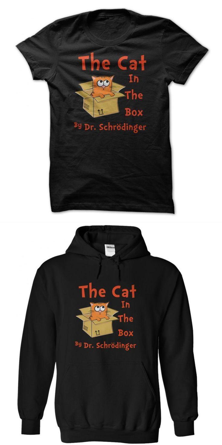 T Shirt Cat Hut The Cat In The Box By Dr Schrodinger  Funny T Shirt #b.kliban #cats #t #shirts #geelong #cats #t #shirt #my #cat #from #hell #t #shirt #zara #cat #t #shirt