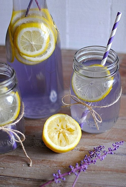 """(picture only)....""""Lavender water and Lemon! how pretty, bring infused water with herbs and produce to sample, to help sell product."""