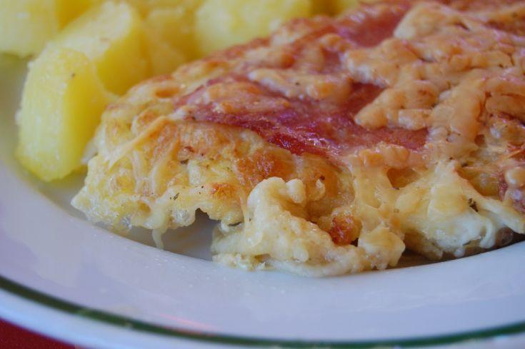 Zapekané obrátené rezne so šunkou a syrom