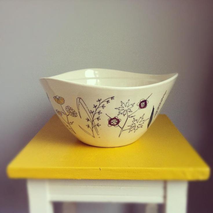 Mid-century Stavangerflint bowl by Inge Waage