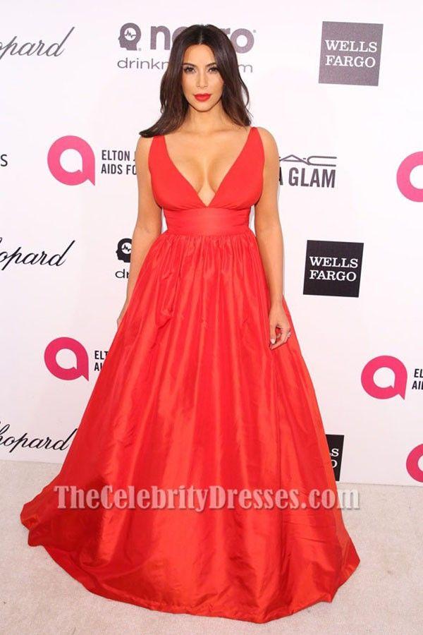 Kim k red dress oscars 76