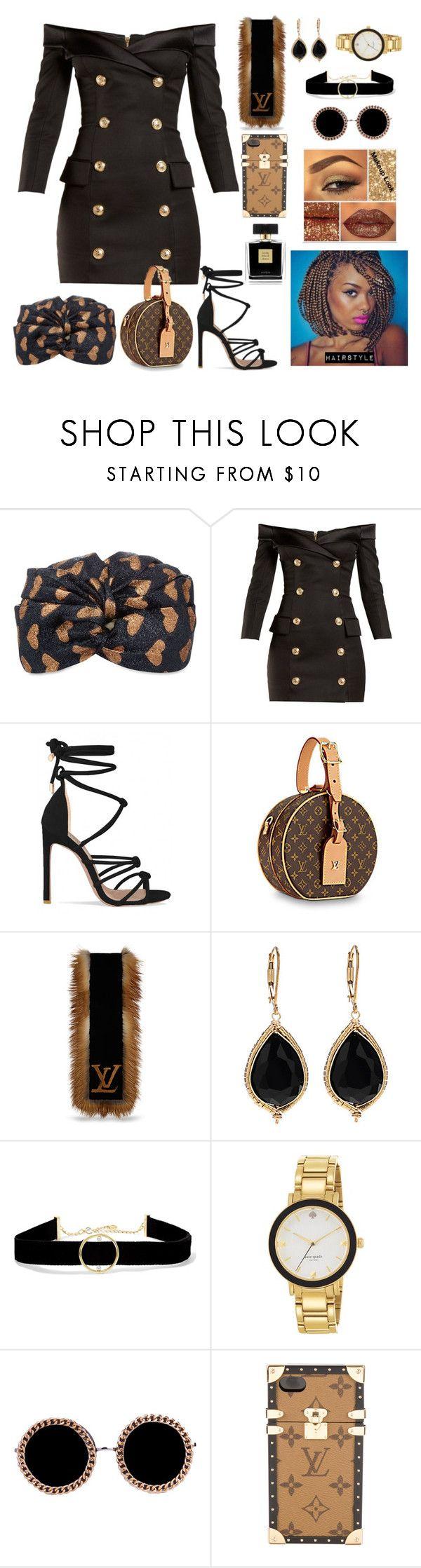 """C'est La Bourgeoisie"" by cissylion ❤ liked on Polyvore featuring Gucci, Balmain, Anissa Kermiche, Kate Spade, Akira, Louis Vuitton and Avon"