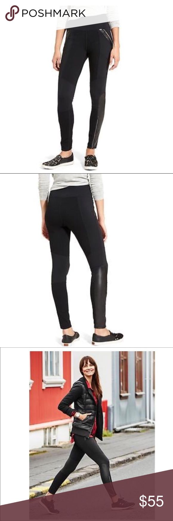 """Ponte Luxe Legging Fitted, high rise, tight leg. Fits next to the skin, sits at the waist. Waist measures 13"""". Inseam measures 26"""". Color is Black. Size is Small. Athleta Pants Leggings"""