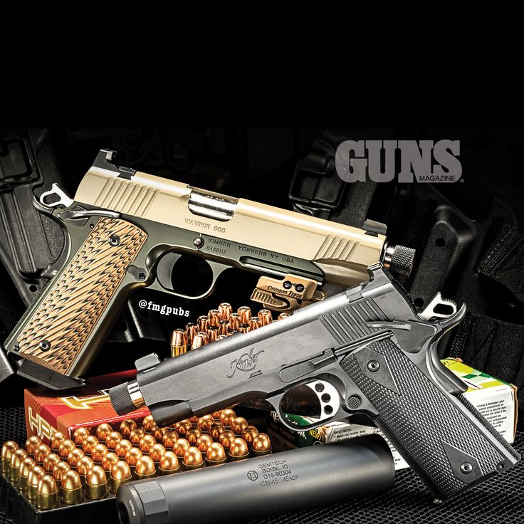 Kimber's 1911 And GEMTECH Suppressor Make For A Potent, Low-Decibel Hookup | Click to read the cover story from the October 2015 Issue of GUNS Magazine now: http://gunsmagazine.com/taming-the-alpha-handgun/ | #Kimber #GEMTECH #Suppressor #Silencer #GUNSMagazine @kimberamerica