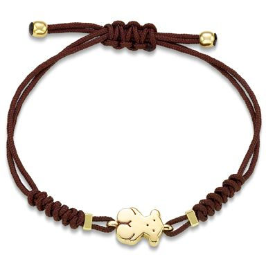 Tous Bear in 18kt gold with brown cord...too cute!