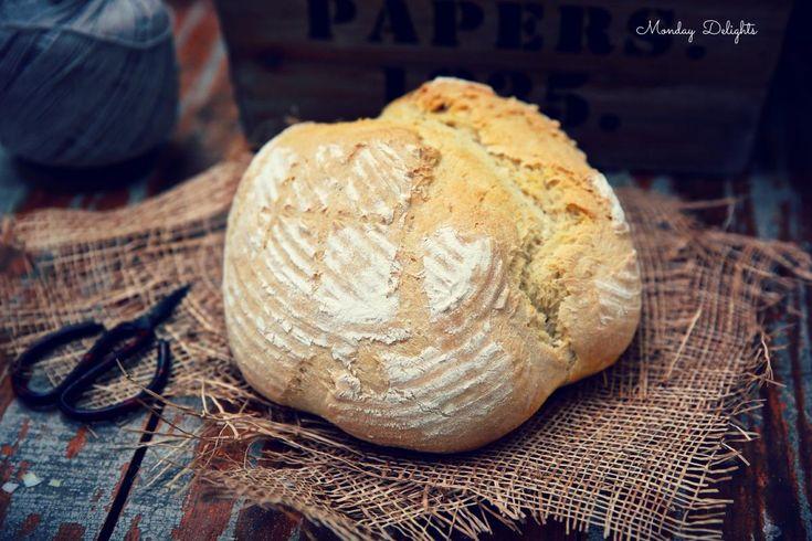 Самый простой и вкусный белый хлеб на пиве