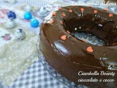 Ho sempre amato l'accoppiata cioccolato-cocco e, infatti , la barretta Bounty è tra i miei snack preferiti. Mi sono spesso cimentata a riprodurlo in formato torta e la ciambella Bounty cioccolato e cocco è il mio esperimento meglio riuscito di questo abbinamento goloso. http://blog.giallozafferano.it/lacucinadimilena/ciambella-bounty-cioccolato-e-cocco/